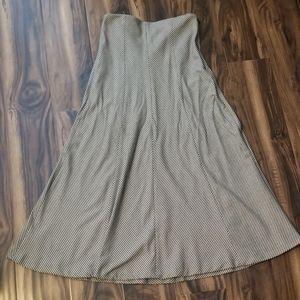Zara A-line midi houndstooth skirt